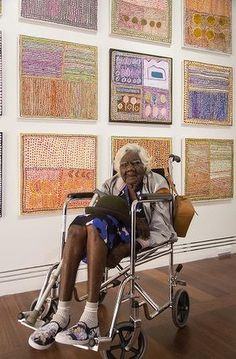 Loongkoonan, 105 years old, is the last remaining speaker of the Nyikina language and is also thought to be Australia's oldest practising artist.