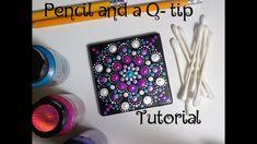How To Paint Dot Mandalas Using ONLY a Qtip & Pencil FULL TUTORIAL Valen...