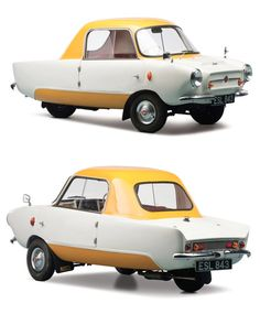 Frisky Family Three, a 9.5 hp, 197cc English microcar designed by Giovanni Michelotti from Vignale, manufactured by Frisky Cars Ltd., Wolverhampton, England, 1959