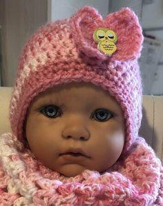 Crochet Hats, Fashion, Pink, Fast Crochet, Little Girls, Kawaii, Tutorials, Breien, Knitting Hats