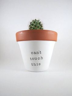 Give your plants a home that they (& you) will love! This lovely hand painted terracotta planter is made to proudly display beautiful succulents, cacti and herbs in your home. They make an adorable addition to any room in your home, studio, business or office. Terracotta makes a great