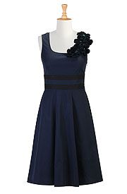 Navy Blue eShakti dress