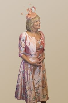 Marie Antioinette (Paule Vasseur) A pretty floral print dress and cropped jacket in Iced Rose. The dress is strapless with an option to have an inch strap sewn in. The skirt sits below the knee and has a pretty net Read More...