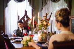 Gothic wedding reception | Ashley Gerrity Photography | see more on: http://burnettsboards.com/2014/10/gothic-wedding-ideas/