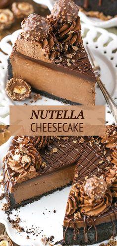 Köstliche Desserts, Delicious Desserts, Dessert Recipes, Yummy Food, Food Cakes, Cupcake Cakes, Boeuf Stroganoff Rezept, Ganache Au Nutella, Chocolate Belga