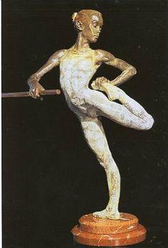"""""""Warm Up"""" Bronze h: 18 x w: 9 x d: 8 in #RichardMacDonald #Sculpture"""