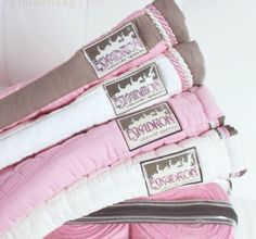 Pink saddle pads