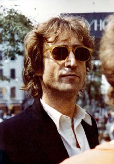 John Lennon hangs out outside in the last October of his life in 1980