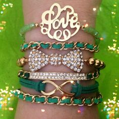 Emerald Love Set from P.S. I Love You More Boutique. shop online at: psiloveyoumore.storenvy.com