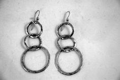 Triple Ring Earrings by Bybella on Etsy, $42.00