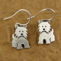 Westie earrings by StickManJewelry #etsy