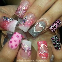 Valentine Nail art design   See more nail designs at http://www.nailsss.com/acrylic-nails-ideas/2/