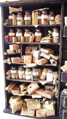 map bottles curtains tree s water glass books stairs ladder desk scroll dress crown lampost fairy apple wings packages animals birdcage quill Stair Ladder, Ladder Desk, Halloween Miniatures, Dollhouse Miniatures, Book Stairs, Glass Book, Vitrine Miniature, Witch House, Witch Aesthetic