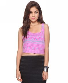 Crop Tribal Tank | FOREVER21