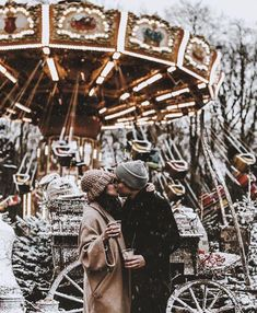 In the romantic Christmas day, he stands with you, so you're the brightest stars. Hugging tightly him, you want to keep this romantic moment forever. Romantic Times, Romantic Moments, Christmas Couple, Merry Christmas, Xmas, Christmas Mood, Passionate Love, Wedding Photo Inspiration, Fashion Inspiration