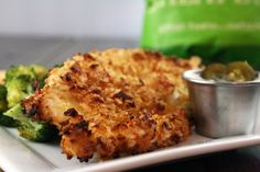 Jalapeno kettle chip crusted chicken with jalapeno ranch. Hells yeah!