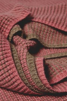 Tundra Cashmere Throw in Pink and Taupe