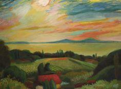 Károlyi Ernő: Sárga Balaton(Badacsony) - Pintér Aukciósház