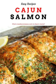 Perfectly cooked salmon coated in a Cajun spiced seafood rub. #cajunfood #seafood #salmon #creolefood #fish #sushi #crawfishboil #southernfood #crabcakes #dinner #seafoodlover #shrimp #scallops #foodporn #salmonrecipe #creolecontessa #lobstermacandcheese #lobster #lemon Creole Recipes, Cajun Recipes, Salmon Recipes, Cajun Salmon, Lobster Mac And Cheese, Good Times Roll, Cooking Salmon, Crab Cakes, Scallops