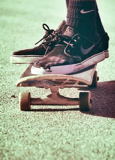 #Skateboarding banged up kicks!