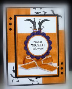 Stamps: Wicked Cool Paper: Peach Parfait, Concord Crush, Basic Black, Whisper White, DSP Ink: Basic Black, markers Accessoires: stictche-...