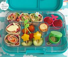 Daffodil Day bento box. Yumbox & all accessories from www.thelunchboxqueen.co.nz. Lunchbox Inspiration – The Lunchbox Queen