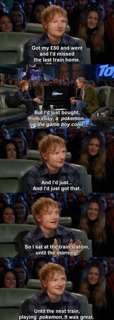Oh my god. This is so perfect *-* Ed Sheeran plays Pokémon on the gbc. My life is made
