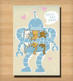 BEEP. BOP. BOOP Print - Small | Art Prints | Heather Lund Illustration