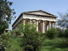 Temple of Hephaistos, Athens, Greece (449 BCE) Best-Preserved Doric Greek Temple