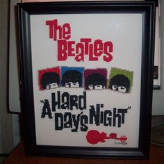 Beatles cross stitch