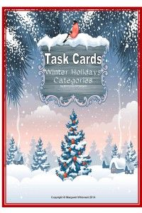 Task Cards:  Winter Holidays Categories--a set of 20 cards with answer keys