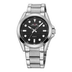 Ezt a Weide-t a Rolex Submariner legendás órája ihlette. Az óra számlapjának díszítése a tenger hullámait idézi. Rolex Watches, Watches For Men, Wrist Watches, Rolex Submariner, Watch Brands, Omega Watch, Quartz, Clock, Stainless Steel