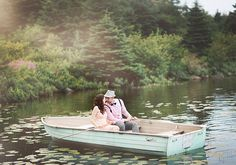 Canadian Lakeside Engagement Shoot | photo by White Willow Photography | 100 Layer Cake. Love this!!