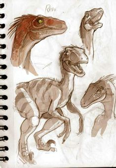 Dinosaurs sketches part 02. by VanOxymore on DeviantArt