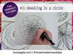 Free mandala class part 1: Introduction and Doodling in a circle #mixedmediamandalas #freeclass