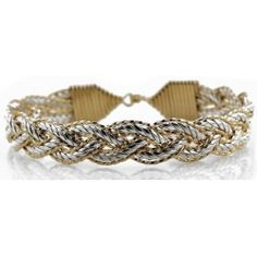 Sterling silver roped bar woven with 14k gold artist wire in a nautical tri-weave pattern. A Trident was the weapon of choice for the mythical gods of the seas. Appropriate for this nautical styled bracelet. Trident is also referred to as referring to the Holy Trinity; Father, Son and Holy Spirit.  Great for Women and Men #ronaldo #ronaldobracelet