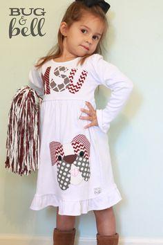 Mississippi State Bulldogs Dress for Girls LONG by BugandBell