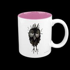 Sleepy Owl Coffee Mugs by Paul Stickland for StrangeStore on Zazzle