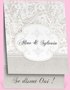 Faire-part mariage réf. N50128 chez monFairePart.com