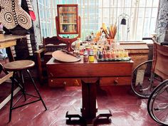 Frida Kahlo's studio at the Frida Kahlo House Museum in Mexico City