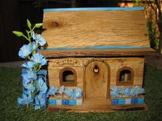 Fairy Garden House Cottage Wisteria Cottage by PixiesPatch on Etsy