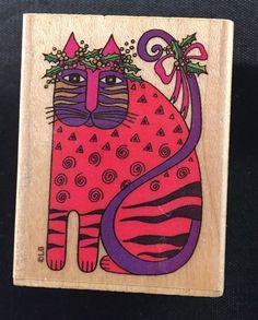 Laurel Burch Festive Feline Rubber Stamp 980E | eBay