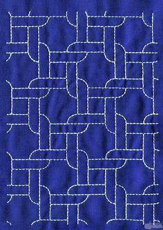 Sashiko running stitch @Anna Totten Totten Totten Totten Totten Totten Halliwell Boyd Fontaine collection