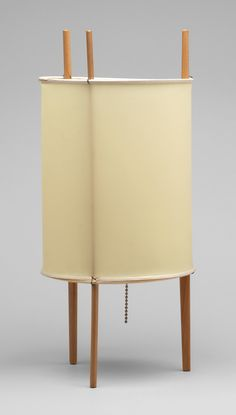 Isamu Noguchi. Table Lamp. 1948 -- Manufacturer: Knoll Associates, New York, NY. Medium: Plastic and wood.