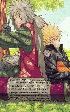 Jiraiya y Naruto Uzumaki Naruto Shippuden Sasuke, Naruto Kakashi, Anime Naruto, Otaku Anime, Fan Art Naruto, Naruto Teams, Naruto Cute, Manga Anime, Sasunaru