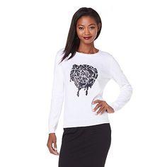 Kelly Osbourne Embellished Rose Sweater