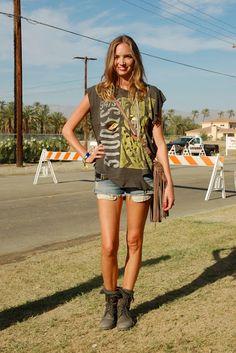 Cristi, our fabulous production goddess'  Coachella style.  @Cristi Postolache Silva #adesso