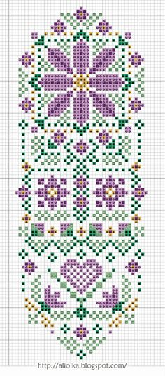 cross-stitch bookmark chart ... no color chart available, just use pattern chart as your color guide.. or choose your own colors...