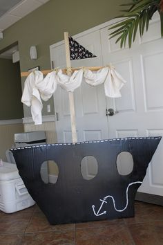 Homemade pirate ship