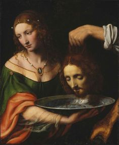Bernardino Luini, Salome with the Head of Saint John the Baptist, 1515–25.
